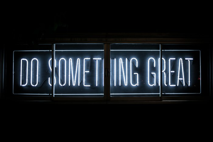 Do Something Great Neon Sign Photo