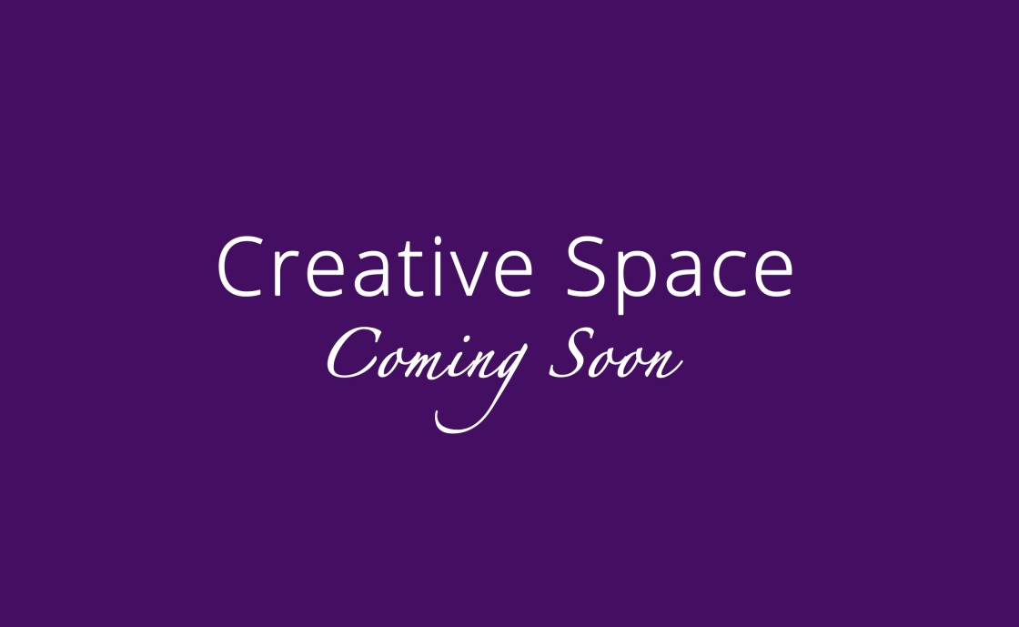 Creative Space coming soon on a purple background