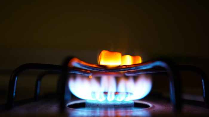 Photo of gas stove burner